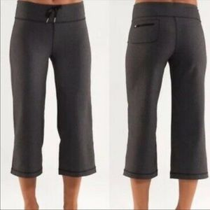 Lululemon Relaxed Fit Crop Heathered Deep Pants 12